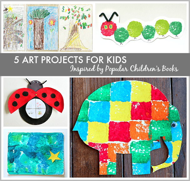 Art projects based on children s books for Art and craft books for kids