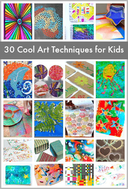 c0f5aaca0df 30 Super Cool Art Techniques for Kids - Buggy and Buddy