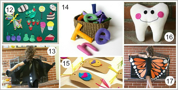 Felt Craft Tutorials from Buggy and Buddy