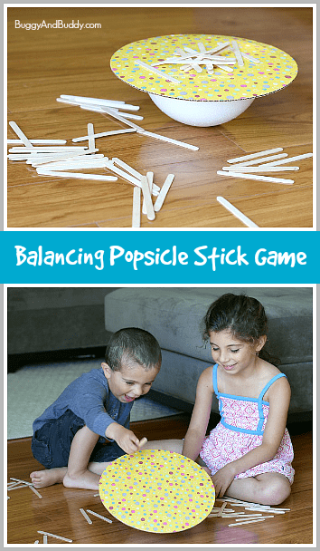 Homemade Game: Balance the Popsicle Sticks~ Buggy and Buddy