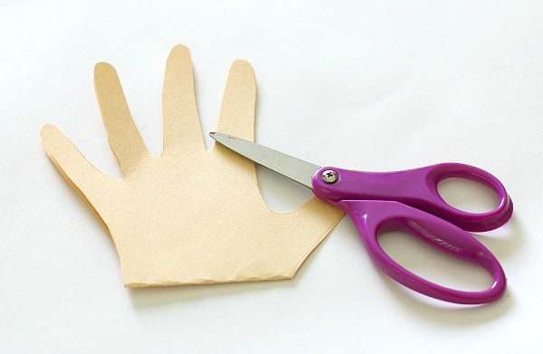cut out the hand shape