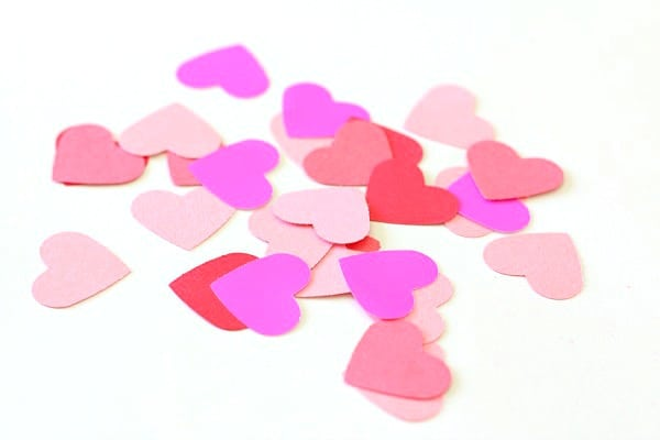 punched out hearts