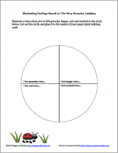 Free printable to go with The Grouchy Ladybug Craft