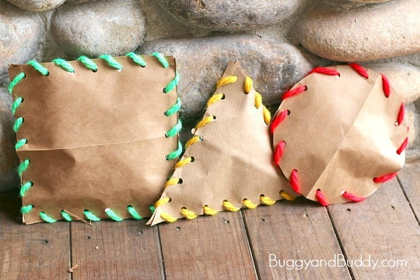 Stuffed Shape Craft for Kids