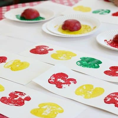 Math Patterns Using Apple Prints