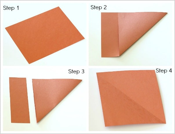 how to make a perfect square from a rectangular piece of paper