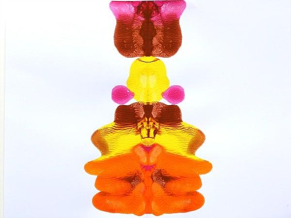 fall colored blotto art