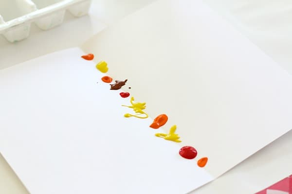 place paint on your paper