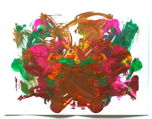 blotto art by preschooler