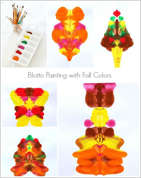 Make Blotto Art Using Fall Colors! ~ BuggyandBuddy.com