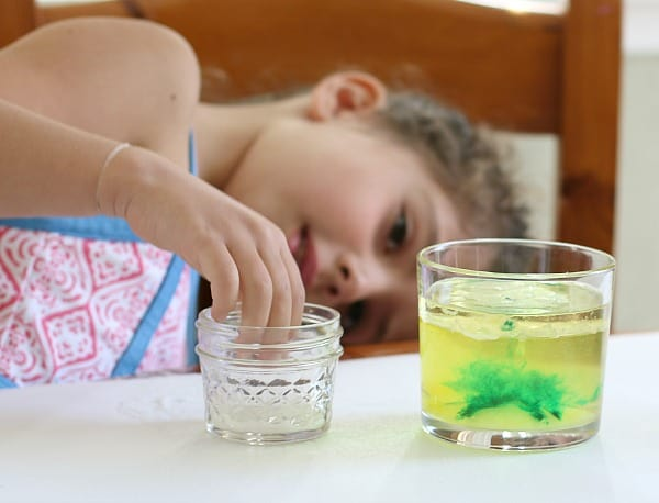 add more food coloring to the density experiment- such a cool way to mix colors