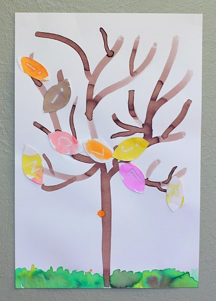 Mystery Letter Fall Tree Activity for Kids~ BuggyandBuddy.com