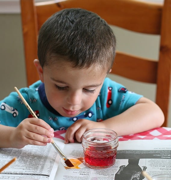 discovering mystery letters with watercolors