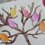 Fall Crafts for Kids: Mystery Letter Fall Tree