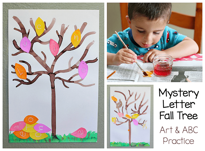 Fall Alphabet Art Project Mystery Letter Tree Buggy And Buddy