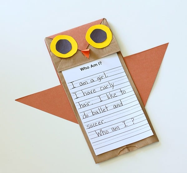 Who's Who? Paper Bag Owl Craft