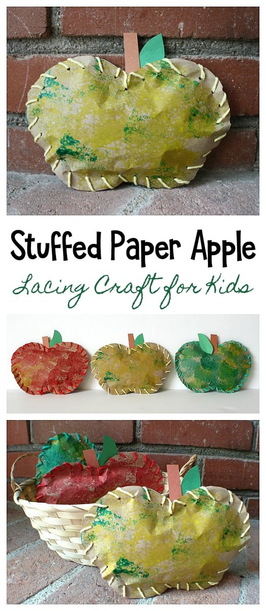 stuffed paper apple art project and craft for kids