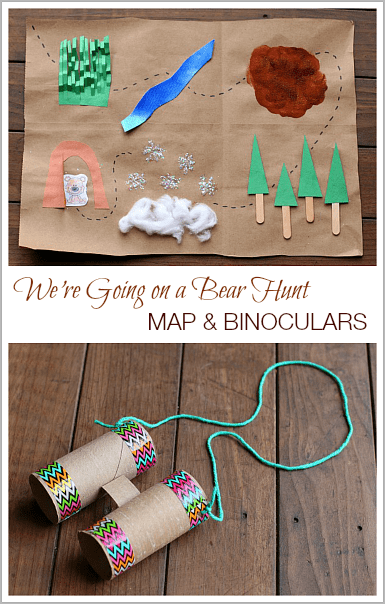 We're Going on a Bear Hunt Map & Binocular Craft~ BuggyandBuddy.com