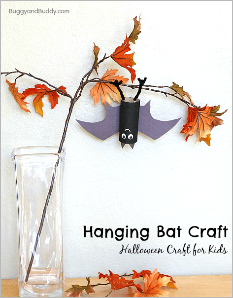 Perfect Halloween Craft For Kids Hanging Bat BuggyandBuddy