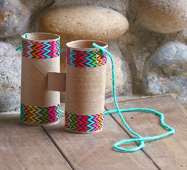 homemade binocular craft for kids