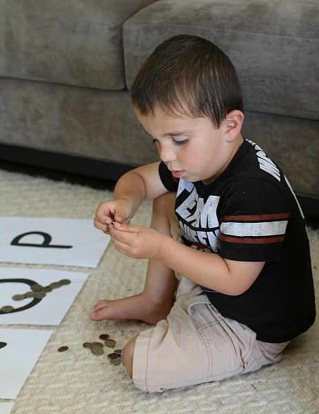 Sorting coins using letters