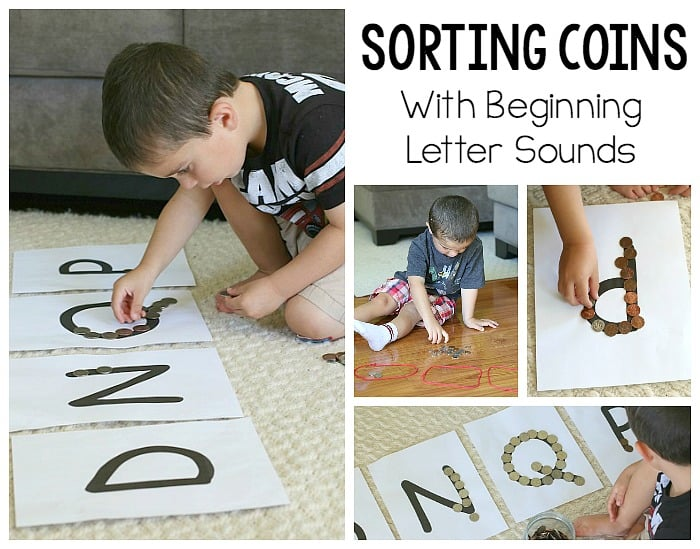 Money Math for Kids: Sorting Coins by beginning letter sound