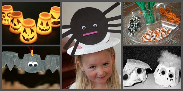 Easy Halloween Crafts for a Kids' Halloween Party