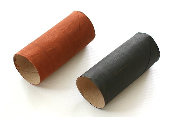 painted your toilet paper roll for the bat craft