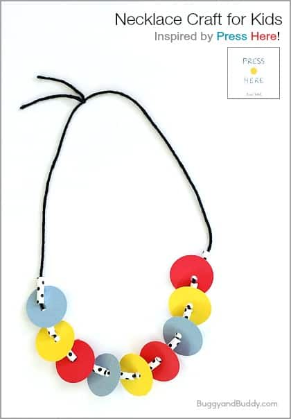 Too cute! (Necklace Craft for Kids Inspired by Press Here) ~ BuggyandBuddy.com