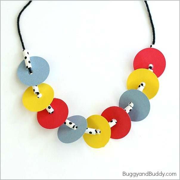 Necklace Craft for Kids Inspired by Press Here- BuggyandBuddy.com