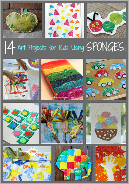 14 art projects for kids using sponges buggy and buddy for Sponge painting for kids pictures