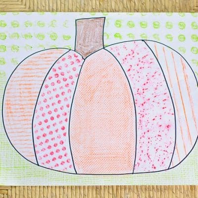 Fall Art Projects for Kids: Textured Pumpkins Using Crayon Rubbings
