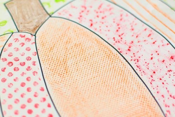 Texture Pumpkin: Fall Art Project for Kids