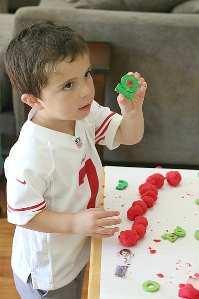 counting playdough activity