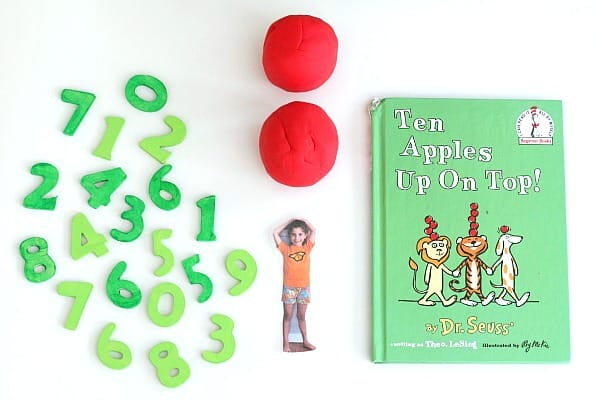 Playdough Activity Inspired by Ten Apples Up On Top!