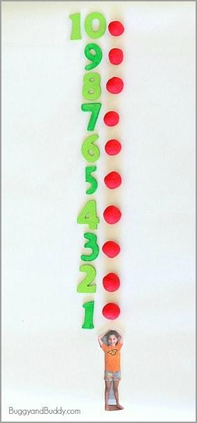 Ten Apples Up On Top! Playdough Activity for Kids~ BuggyandBuddy.com