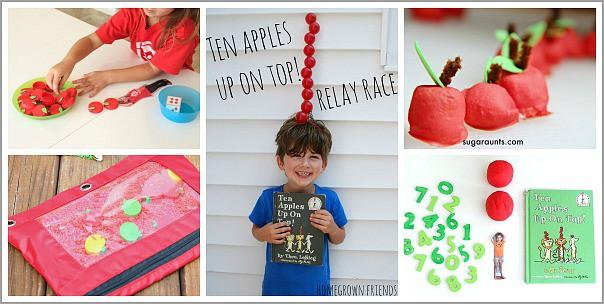 Ten Apples Up On Top! activities for kids from the Preschool Book Club