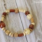 Fall Crafts for Kids: Bracelet with Embellished Beads~BuggyandBuddy.com