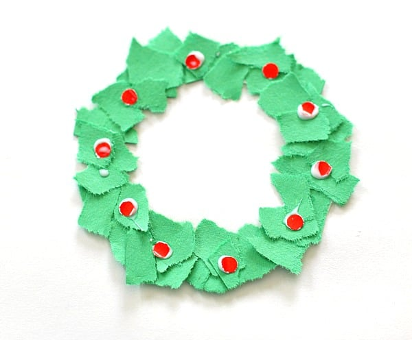 How To Make Christmas Tree Ornaments Out Of Construction Paper : Homemade christmas ornaments tear art wreaths