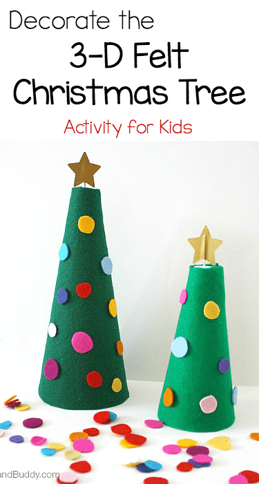 Decorate the 3-D Felt Christmas Tree activity for kids