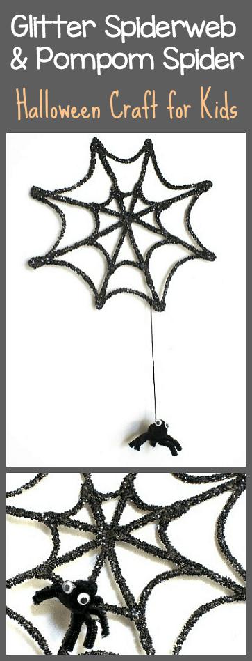 glitter spiderweb