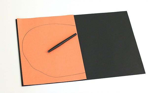 draw half a pumpkin