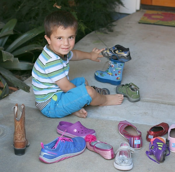 Sorting Shoes Math for Kids
