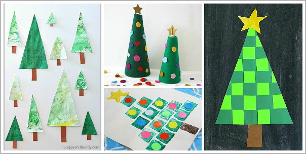 Christmas tree crafts for kids for Craft work for class 3