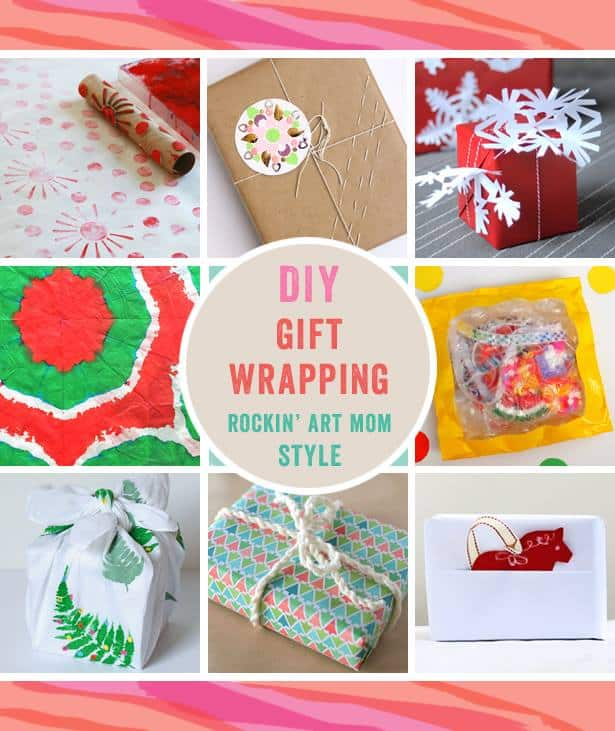 DIY Gift Wrapping Ideas from the Rockin' Art Moms
