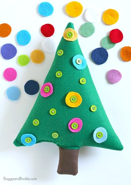 Christmas Fine Motor Activity for Kids- Decorate the Button Tree! ~ BuggyandBuddy.com