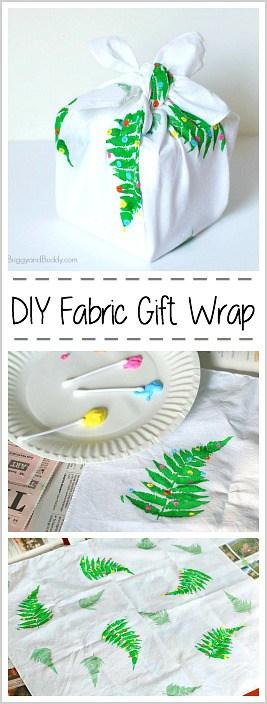 DIY Fabric Gift Wrap (Furoshiki)