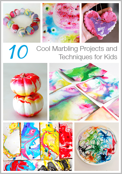 cool marbling techniques and projects for kids buggy and