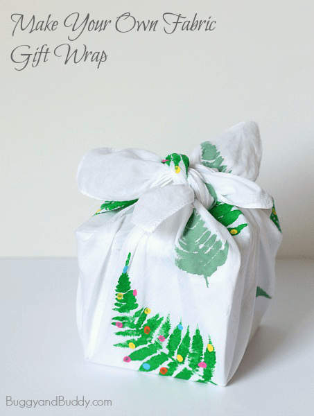 How to make your own reusable gift wrap from fabric (Also know as Furoshiki~ BuggyandBuddy.com)