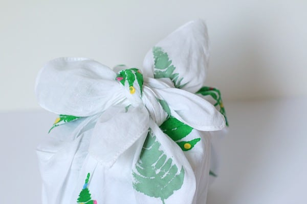 Make your own reusable gift wrap from fabric